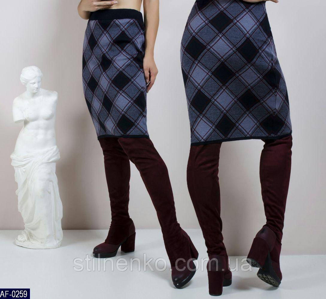 Шерстяная юбка длина до колен