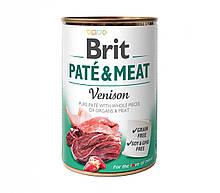 Вологий корм для собак Brit Pate & Meat Venison з олениною 400 г