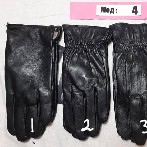Кожа мужские перчатки осень внутри шерсть, фото 2