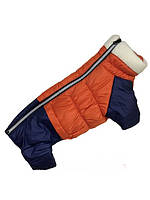 "Комбинезон зимний ""Оранж"" для ТАКС, размер 5 (спина 50см, обхват груди 52--60см)"