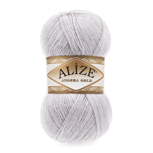 ANGORA GOLD SIMLI 71 светло-серый - 20% шерсть, 5% металлик, 75% акрил