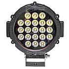 Фара LED круглая 63W (21 лампа) black, фото 2