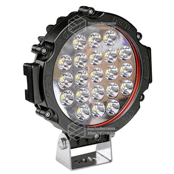 Фара LED круглая 63W (21 лампа) black