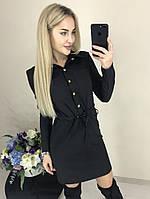 Платье рубашка черного цвета 42, 44 р.