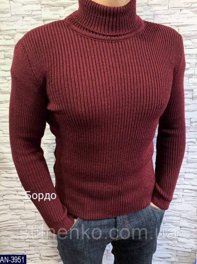 Гольф мужской цвет бордо