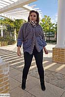 Куртка с мехом  плащевка на синтепоне 200 Батал, фото 1