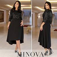 Женское нарядное платье №743Б(р.50-58) черный, фото 1