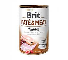 Вологий корм для собак Brit Pate & Meat Rabbit з кроликом 400 г