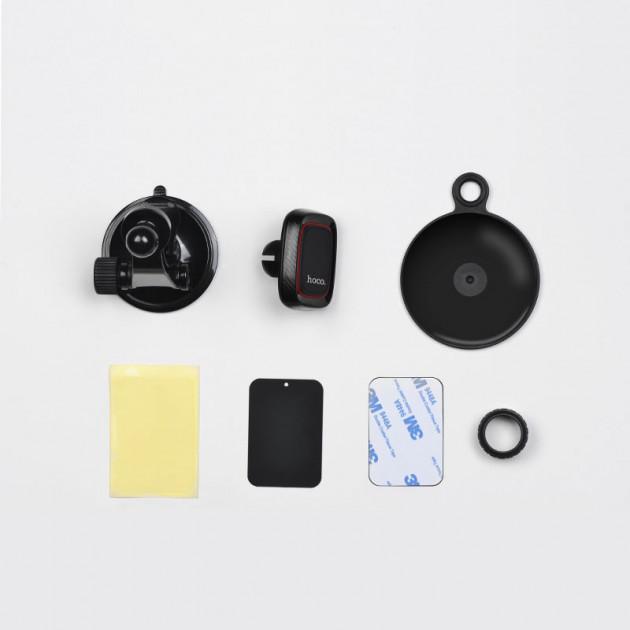 Автодержатель магнитный для телефона Hoco CA28 Happy Journey c вакуумной присоской Черный