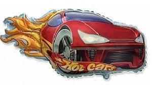 Фольгированные шары фигура Гоночная машина  Hot Cars  Flexmetal (Испания), 32х81см