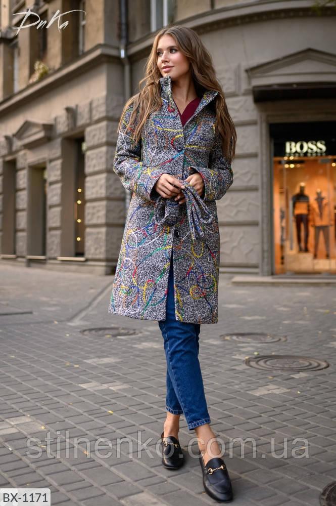 Пальто на утепленной подкладке,пояс в комплекте
