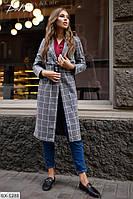 Пальто женске пояс в комплекте, фото 1