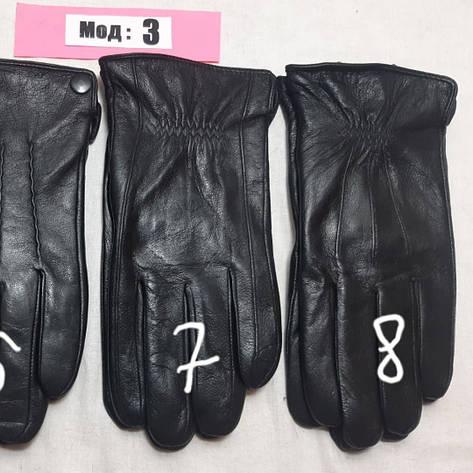 Кожа смартфон мужские перчатки зима внутри махра, фото 2
