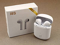 TWS I8S беспроводные Bluetooth наушники с кейсом копия, белые