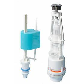 Смывная арматура универсальная с клапаном нижней подачи воды Nova Plastik