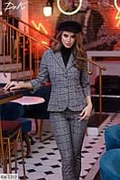 Костюм стильный тёплый пиджак+штаны