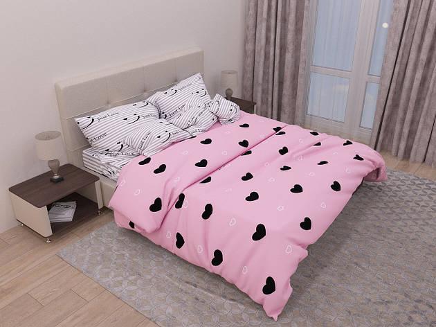Двуспальный комплект постельного белья евро 200*220 хлопок  (12937) TM KRISPOL Украина, фото 2