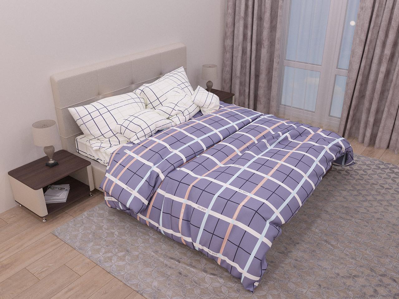 Двуспальный комплект постельного белья евро 200*220 хлопок  (12931) TM KRISPOL Украина