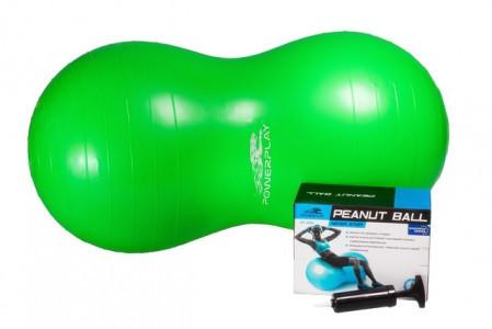 Мяч-орех для фитнеса 4004, 100х50 см, Зеленый с насосом - 190163