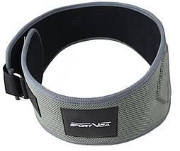 Пояс для тяжелой атлетики неопреновый SportVida SV-AG0082 (L) Gray, фото 3