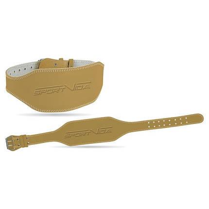 Пояс для тяжелой атлетики кожаный SportVida SV-AG0054 (L) Beige, фото 2