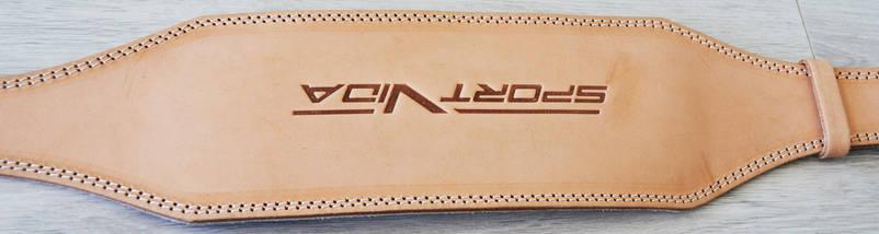 Пояс для тяжелой атлетики кожаный SportVida SV-AG0054 (L) Beige, фото 3