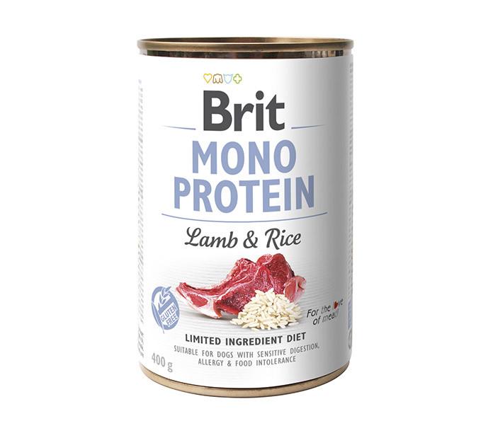 Вологий корм для собак Brit Mono Lamb & Rice з ягням і рисом 400 г