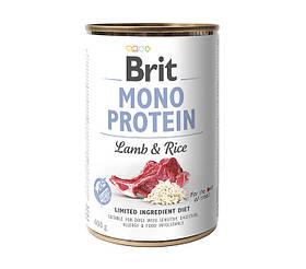 Влажный корм для собак Brit Mono Lamb & Rice с ягненком и рисом 400 г