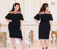 Женское нарядное платье №208Б(р.50-60) черный, фото 1