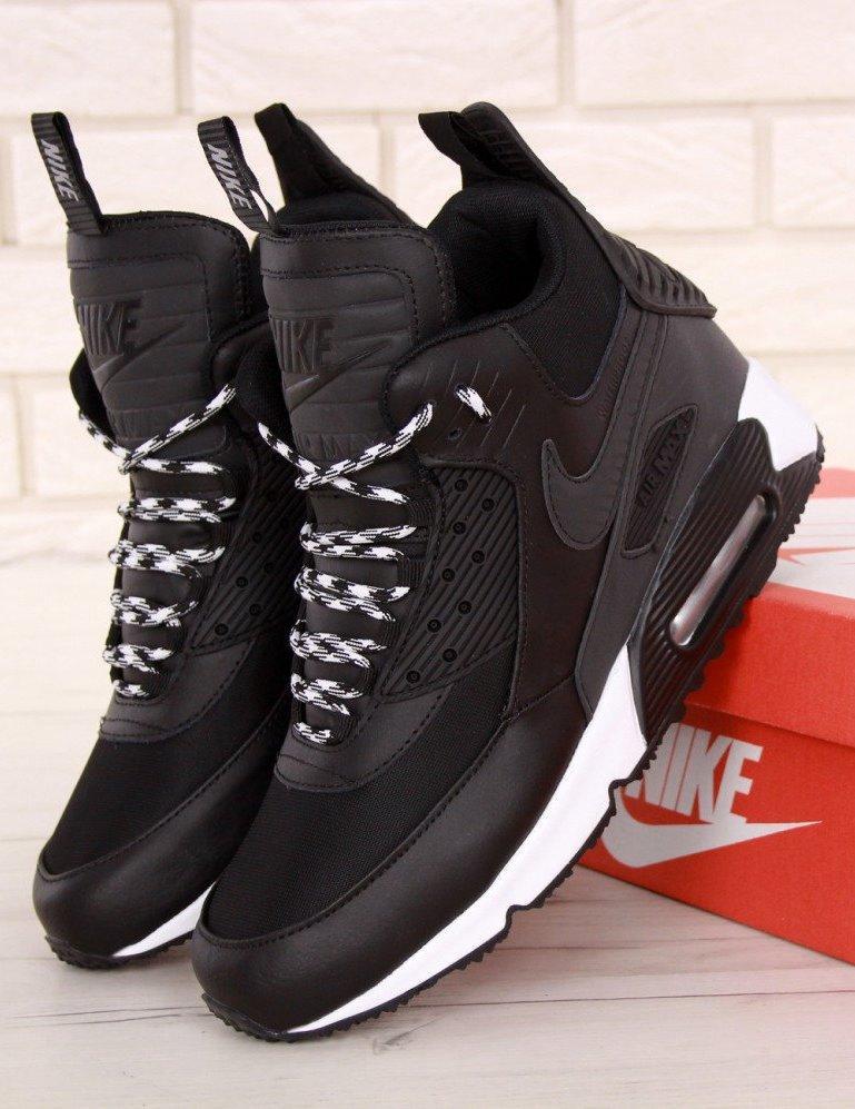 Мужские кроссовки Nike Air Max 90 Sneakerboot Winter (Найк Аир Макс 90 Сникербут)