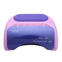 Гибридная лампа для сушки и наращивания ногтей Professional Nail 48W CCFL+LED Pink/Violet