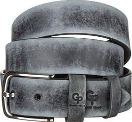 Ремень мужской Grande Pelle 11064 кожа Серый, Серый, КОД: 190198