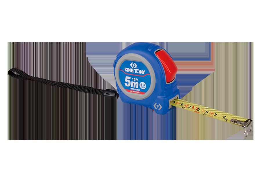 Рулетка 8м с магнитным крючком KINGTONY