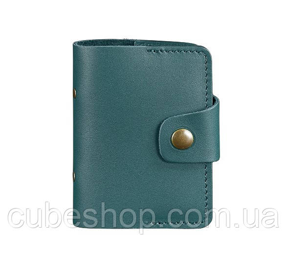 Кард-кейс книжечка кожаный 7.1 (зеленый)