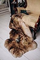 Шкура овечья с коричневыми кончиками, размер 130х70