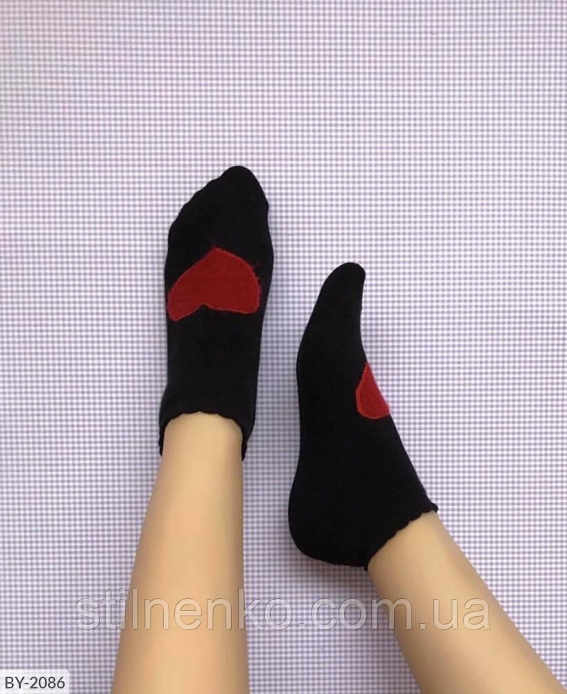 Короткие махровые носки