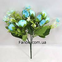 Голубой букет крокусов 29см,искусственный куст с цветами, фото 1
