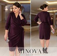 Женское нарядное платье №213Б(р.50-60) марсала, фото 1