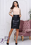 "Модная юбка из кожзама ""Sharm"", фото 4"