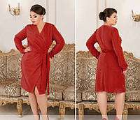 Женское нарядное платье №213Б(р.50-60) красный, фото 1