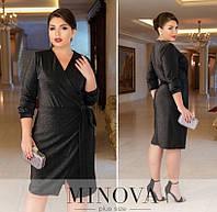 Женское нарядное платье №213Б(р.50-60) черный, фото 1