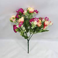 Малиновый+персиковый букет крокусов 29см,искусственный куст роз, фото 1