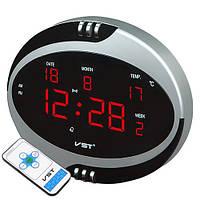 Сетевые часы настольные 770 Т-1 красные, пульт Д/У