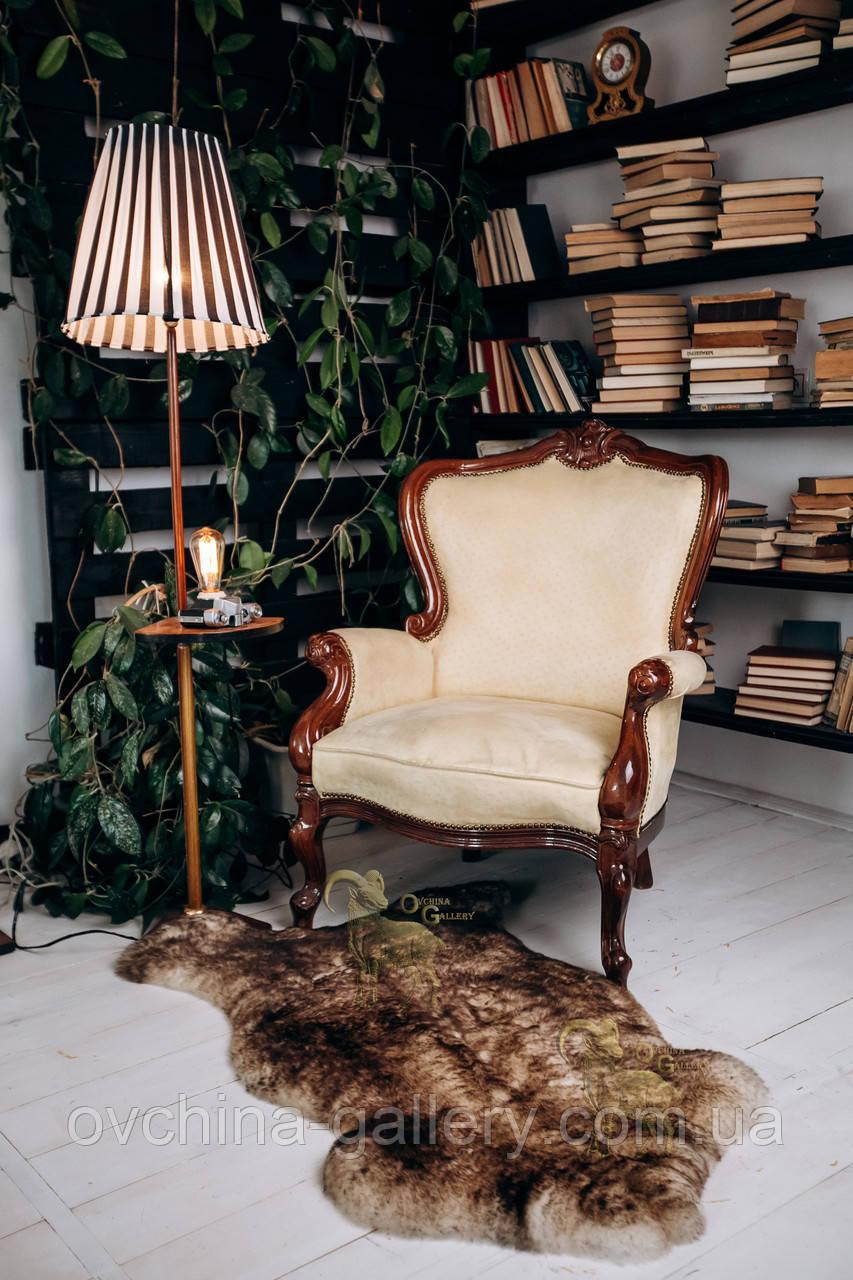 Овеча Шкура з коричневими кінчиками, розмір 120х80