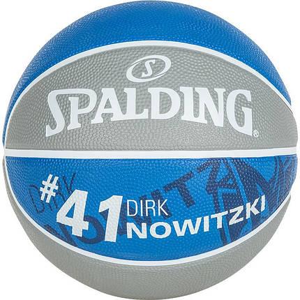 Мяч баскетбольный Spalding NBA Player Dirk Nowitzki Size 7, фото 2