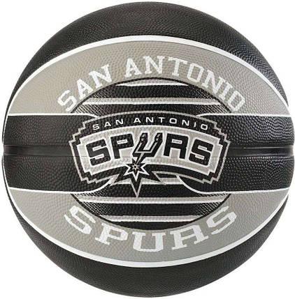 Мяч баскетбольный Spalding NBA Team SA Spurs Size 7, фото 2