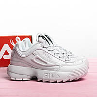 Женские кроссовки в стиле FILA Disruptor All White (41 размер)