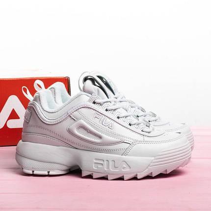 Женские кроссовки в стиле FILA Disruptor All White (41 размер), фото 2