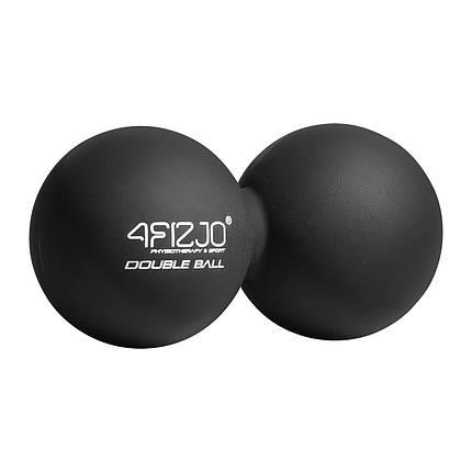 Массажный мяч двойной 4FIZJO Lacrosse Double Ball 6.5 x 13.5 см 4FJ1226 Black, фото 2