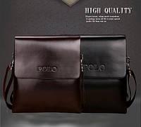Мужская кожаная сумка Polo. Модель 451, фото 3